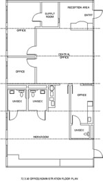 Office / Administration Modular Building Floor Plan